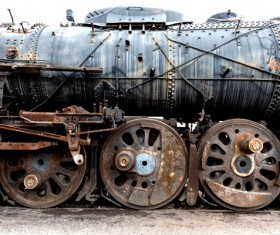 Old steam train Stock Photo 04