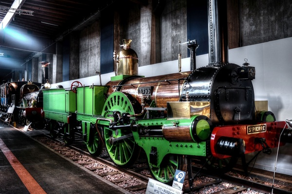 Old steam train Stock Photo 05