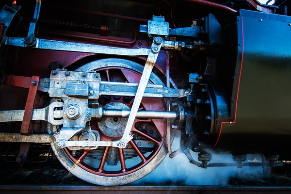 Old steam train Stock Photo 06