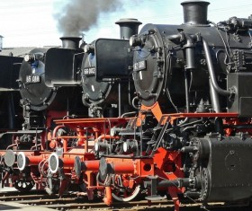 Old steam train Stock Photo 07
