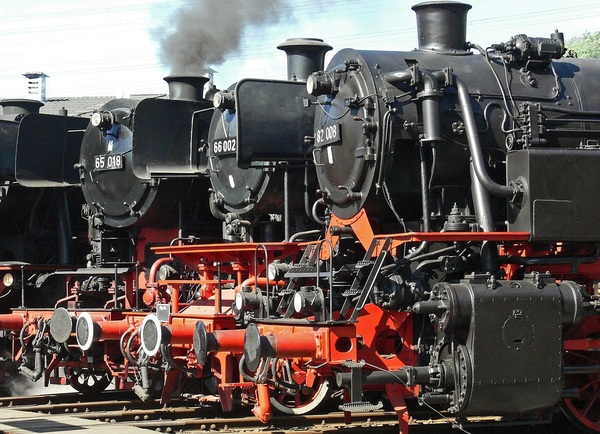 Old steam train Stock Photo 07