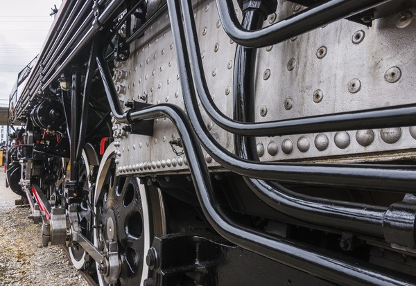 Old steam train Stock Photo 12