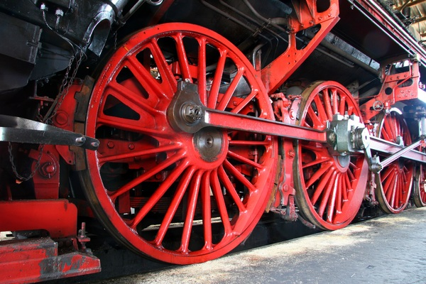 Old steam train Stock Photo 14