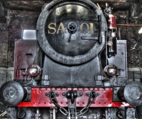 Old steam train Stock Photo 16