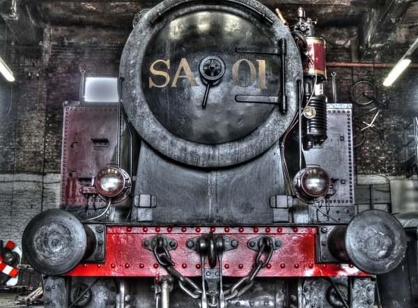 Old steam train Stock Photo 16