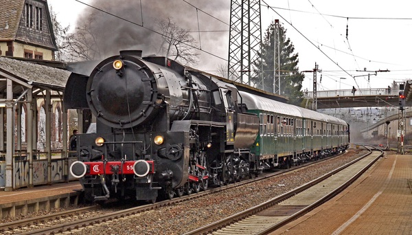Old steam train Stock Photo 17