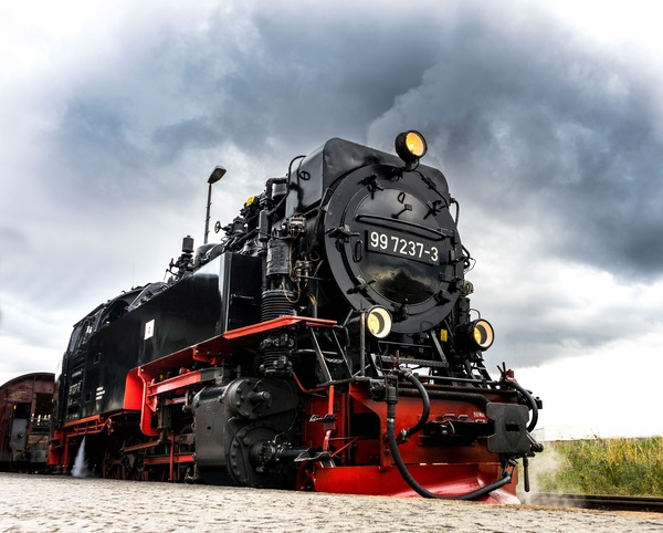 Old steam train Stock Photo 18