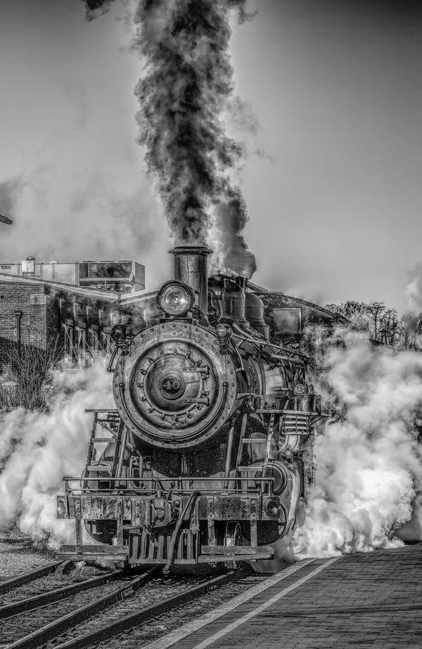 Old steam train Stock Photo 19