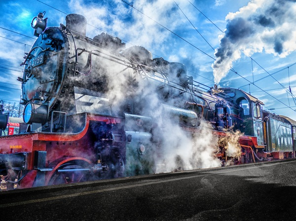 Old steam train Stock Photo 20