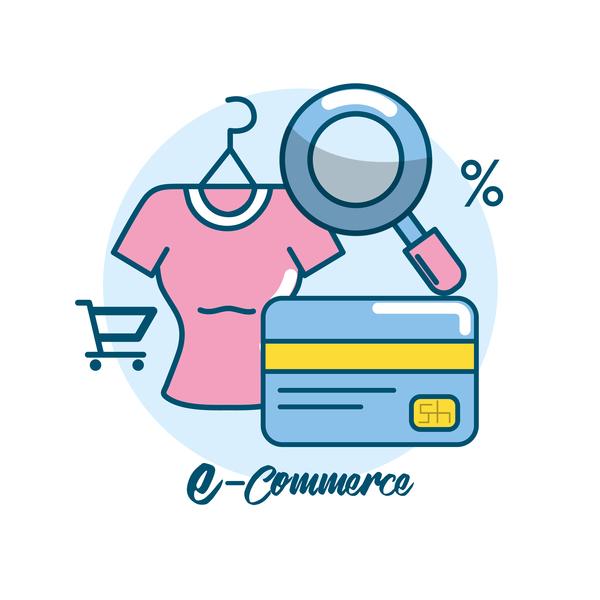 Online shopping business illustration 05