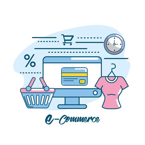 Online shopping business illustration 07