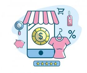 Online shopping business illustration 11
