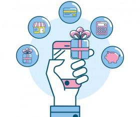 Online shopping business illustration 13
