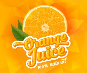 Orange juice ad poster template vector 02