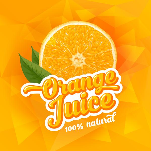 Orange juice ad poster template vector 02