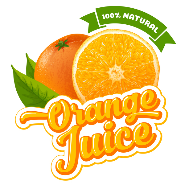 Orange juice ad poster template vector 03