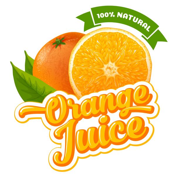 Orange juice ad poster template vector 03