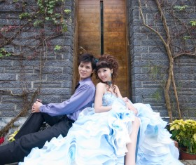 Oriental wedding photo Stock Photo