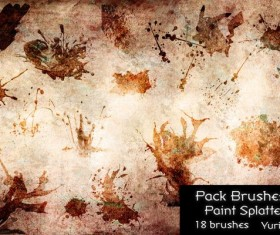 Paint Splatters Photoshop Brushes