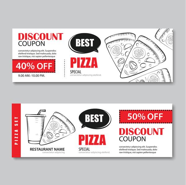Pizza discount banner vector 01