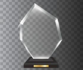 Polygon acrylic glass trophy award vector 01