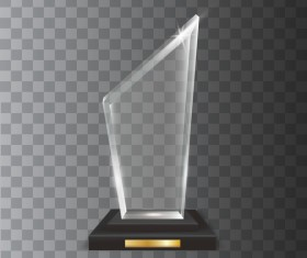 Polygon acrylic glass trophy award vector 02