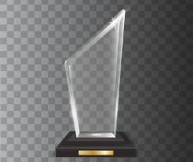Polygon acrylic glass trophy award vector 02