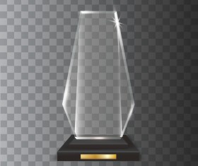 Polygon acrylic glass trophy award vector 04