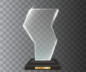 Polygon acrylic glass trophy award vector 05