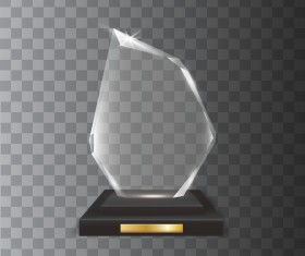 Polygon acrylic glass trophy award vector 07