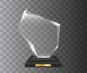 Polygon acrylic glass trophy award vector 08