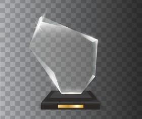 Polygon acrylic glass trophy award vector 08