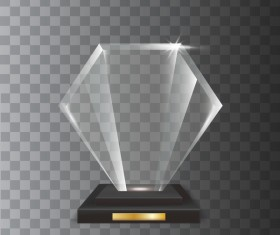 Polygon acrylic glass trophy award vector 10