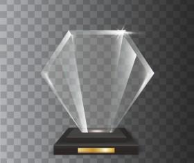 Polygon acrylic glass trophy award vector 10