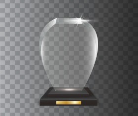 Polygon acrylic glass trophy award vector 11