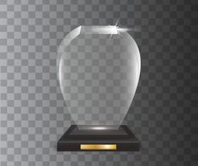 Polygon acrylic glass trophy award vector 11