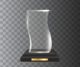 Polygon acrylic glass trophy award vector 13