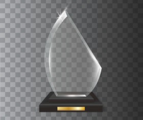 Polygon acrylic glass trophy award vector 15
