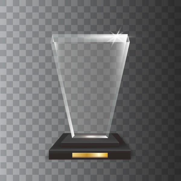 Polygon acrylic glass trophy award vector 16