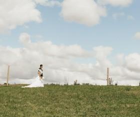 Prairie wedding Stock Photo