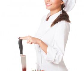 Pretty female cook Stock Photo 01