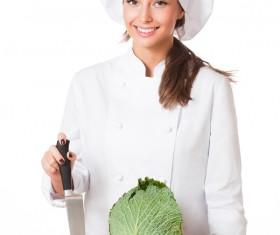 Pretty female cook Stock Photo 05