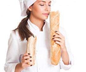 Pretty female cook Stock Photo 06