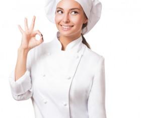 Pretty female cook Stock Photo 08
