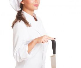 Pretty female cook Stock Photo 10