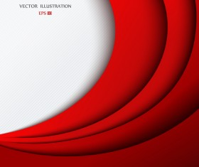 Red layered background vector