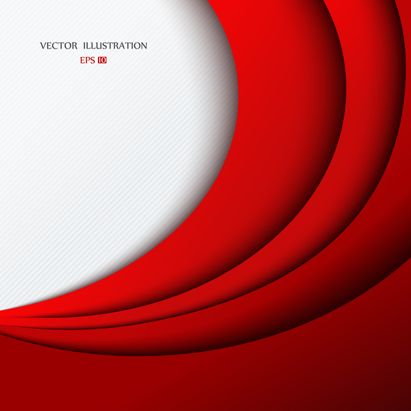 red layered background vector free download