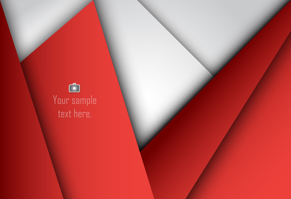 Red with white layered background vector