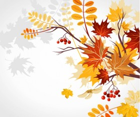 Refreshing autumn background illustration vector 01