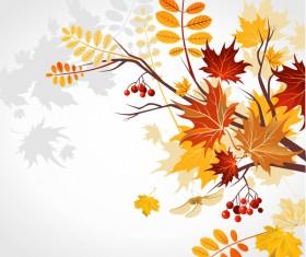 Refreshing autumn background illustration vector 01